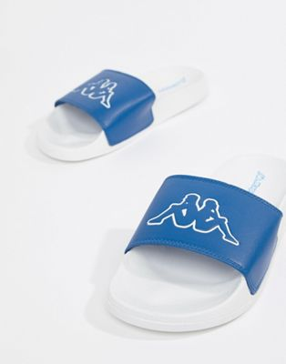 Kappa logo slide in blue