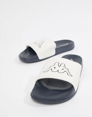 Kappa logo slide in white