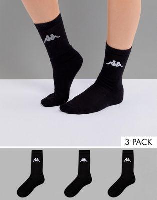 Kappa - Lot de 3 paires de chaussettes de sport