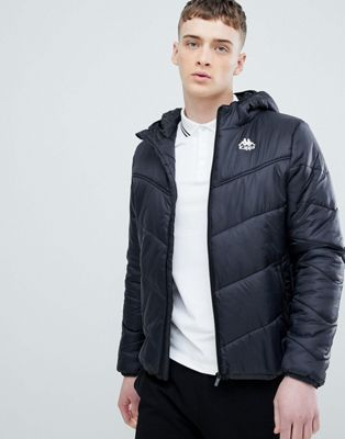 Kappa Padded Jacket with Hood Branding