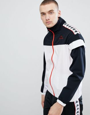 Kappa Track Jacket With Banda Taping Panel