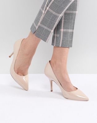 Karen Millen patent pointed court shoes