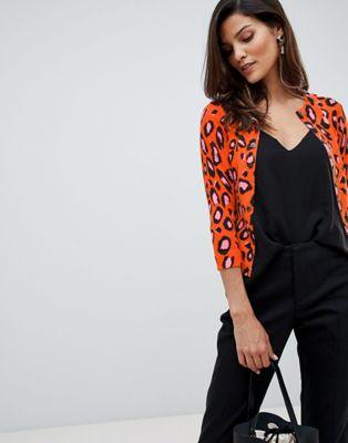 Karen Millen - Vest in dierenprint