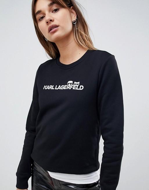 Image 1 of Karl Lagerfeld Choupette logo sweater