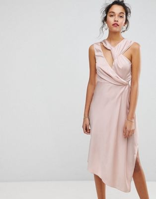 Keepsake Asymmetric Midi Dress