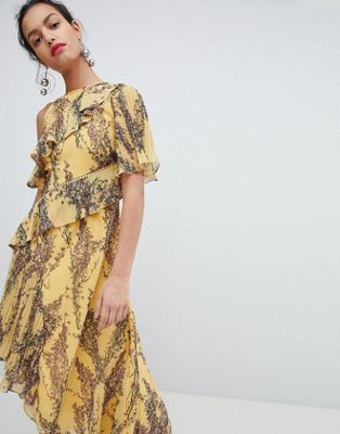Keepsake Floral Asymmetrical Dress