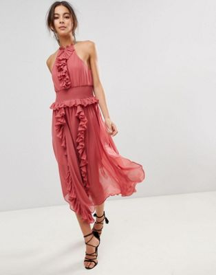 Keepsake Ruffle Swing Dress