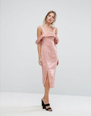 Keepsake Too Late Midi Dress