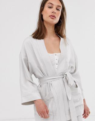 De Beis Con Claro Weekday Kimono En Cinturón Anudado zpSUMV