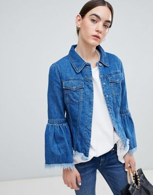 Kings Of Indigo organic cotton denim jacket with raw hem