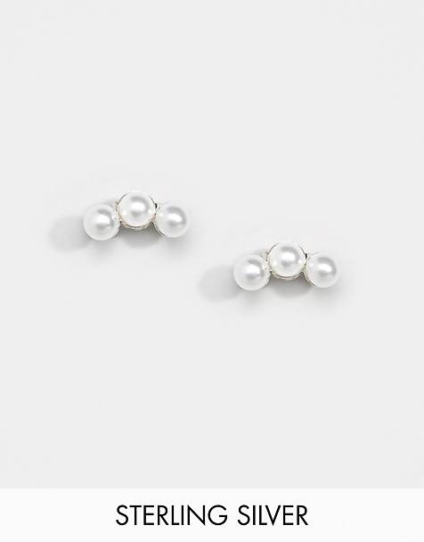 Kingsley Ryan Exclusive pearl ear climber earrings