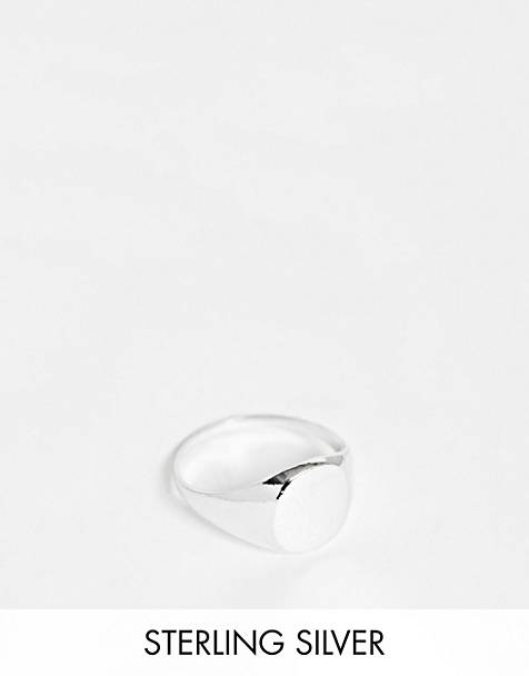 Kingsley Ryan Exclusive signet ring in sterling silver