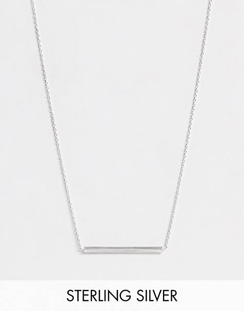 Kingsley Ryan exclusive sterling silver bar necklace