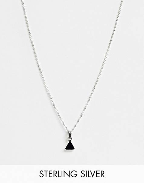 Kingsley Ryan exclusive sterling silver black onyx pendant necklace