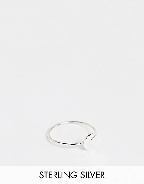 Kingsley Ryan exclusive sterling silver moon crescent ring