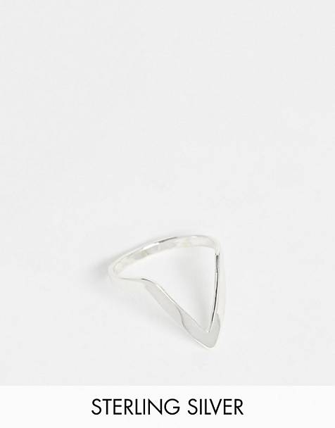 Kingsley Ryan exclusive sterling silver shaped ring