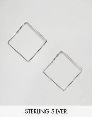 Kingsley Ryan Sterling Silver Large Square Hoop Earrings