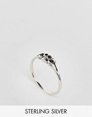 Kingsley Ryan Sterling Silver Skull Ring