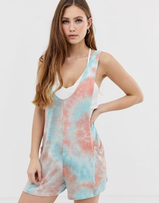 Kiss The Sky Tie Dye Festival Playsuit