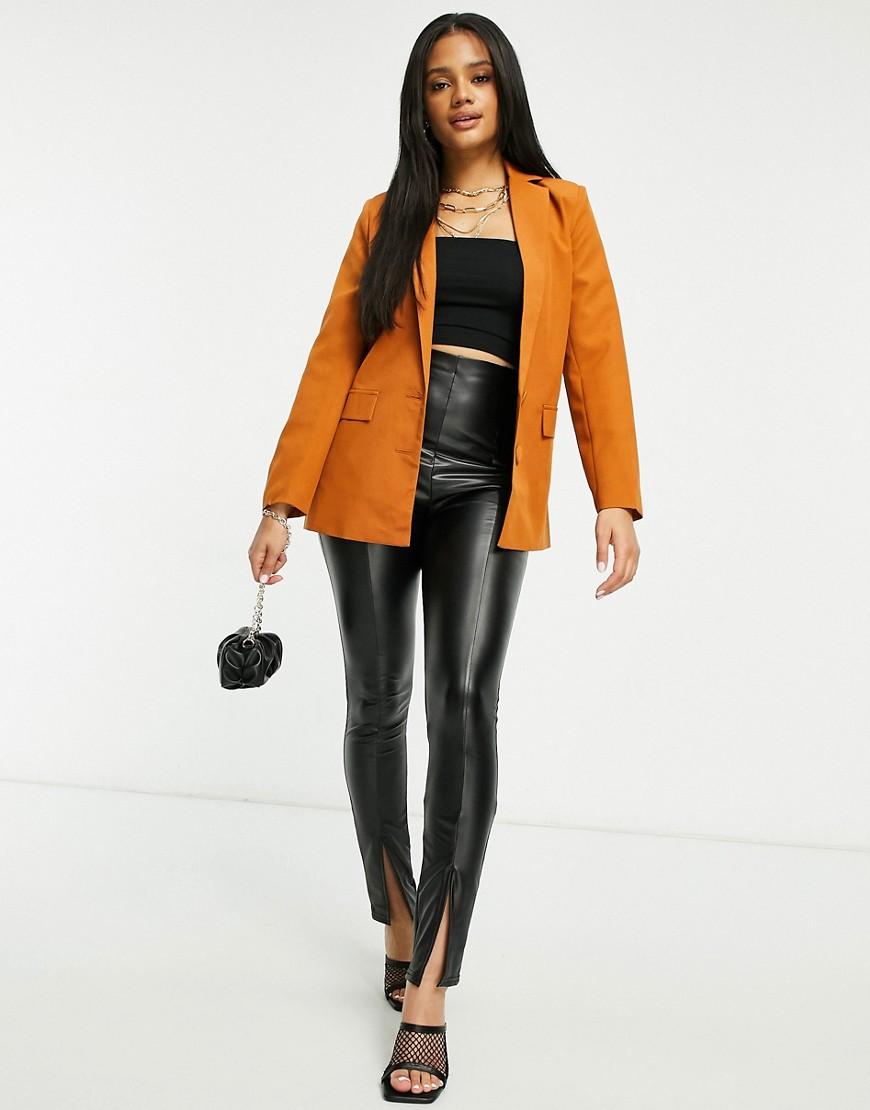 Классический пиджак коричневого цвета Club L-Коричневый