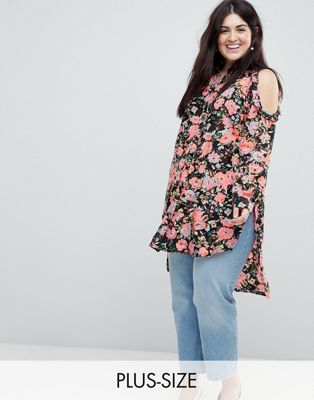 Koko Cold Shoulder Floral Shirt