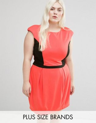 Koko Plus Dress With Contrast Panel