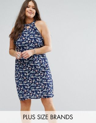Koko Plus Swing Dress With Ruffle Detail