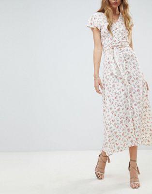 Комбинируемая юбка миди с цветочным принтом Flynn Skye