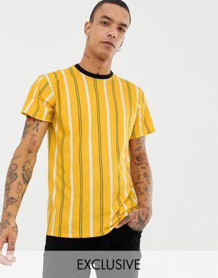 Комбинируемая желтая футболка в полоску Milk It Vintage