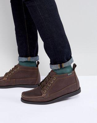 Коричневые кожаные ботинки Eastland Seneca