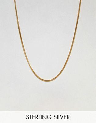 Короткое ожерелье из позолоченного серебра ASOS DESIGN