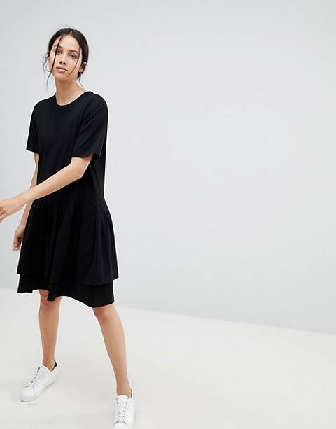 Kowtow Building Block Tiered Mini Dress in Organic Cotton