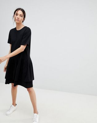 Kowtow Building Block Tiered Mini Dress