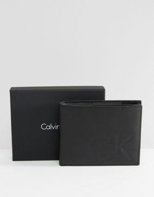 Кожаный бумажник с кармашком для мелочи Calvin Klein 5CC