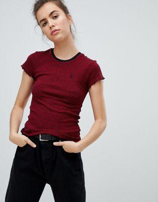 Красная футболка в полоску Volcom