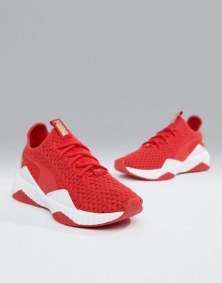 Красно-золотистые кроссовки Puma Training Defy