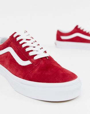 Красные замшевые кроссовки Vans Old Skool