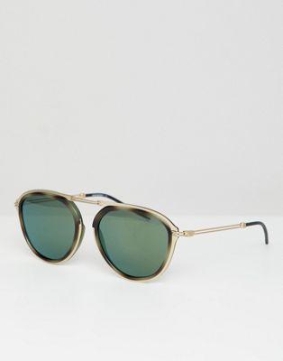 Круглые солнцезащитные очки Emporio Armani