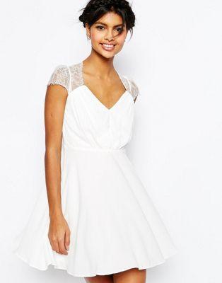 Кружевное платье мини ASOS Kate ASOS