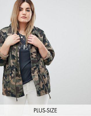 Куртка с камуфляжным принтом Zizzi