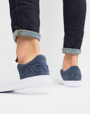Lacoste Carnaby Evo 318 6 sneakers in white with blue