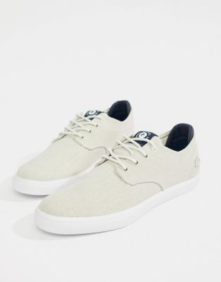 Lacoste Esparre Canvas Sneakers In White