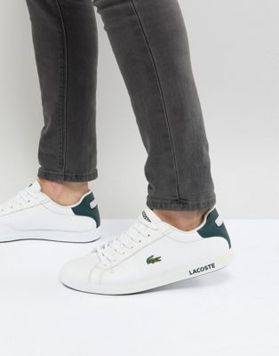 Image 1 of Lacoste Graduate sneakers in white leather