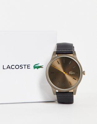 Lacoste Borneo mens round metal watch in black - ASOS Price Checker