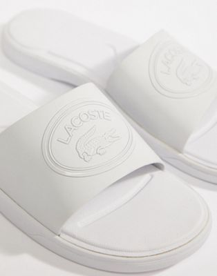 Lacoste L.30 Sliders In White
