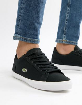 Lacoste Lerond BL 2 sneakers in black canvas