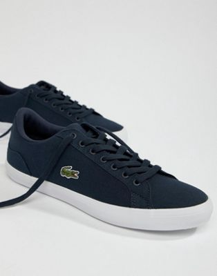 Lacoste Lerond BL 2 sneakers in blue canvas