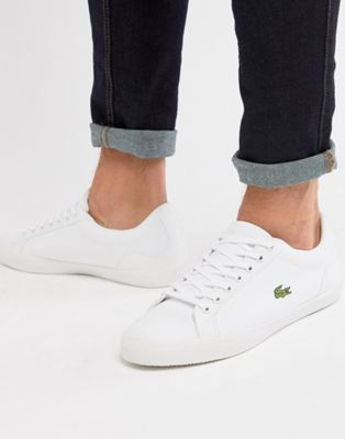 Lacoste Lerond BL 2 sneakers in white canvas