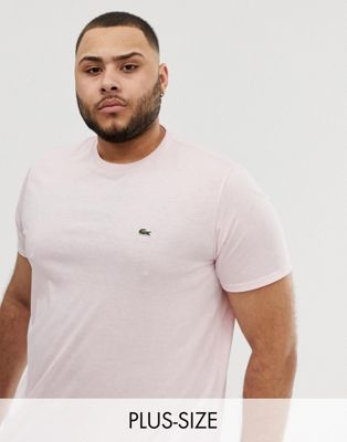 Lacoste logo crew neck t-shirt in pink