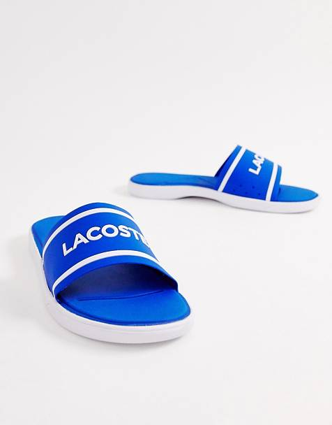 Lacoste logo slide in blue